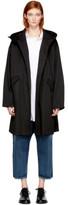 Y's Ys Black O-hooded Coat