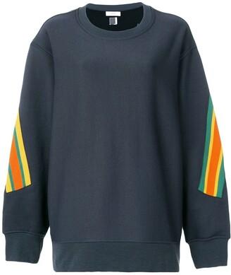 Facetasm Oversized Stripe Detail Sweatshirt