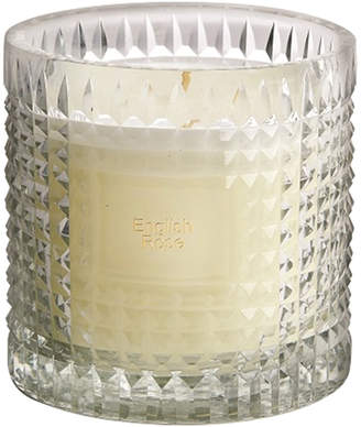 clear Bidk Home Bidkhome English Rose Etched Glass Scented Candle