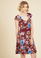 YELLOW STAR Story of Citrus Dress in Bordeaux Blossom