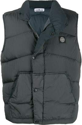Stone Island high neck padded gilet