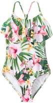 Seafolly Girls' Tropical Tank One Piece Swimsuit (614) - 8148031