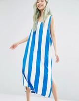 Weekday Block Stripe Dress With Slits