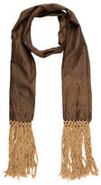 Dries Van Noten Fringe-Trimmed Silk Scarf