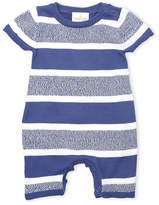 Cuddl Duds Newborn Boys) Blue Stripe Knit Coveralls