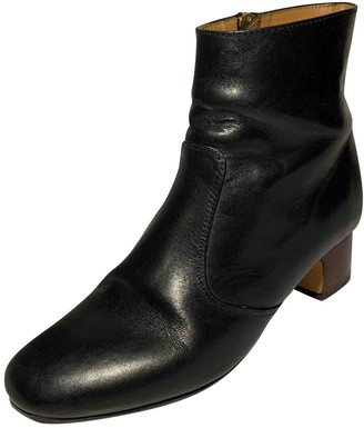 A.P.C. \N Black Leather Ankle boots