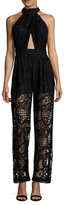 KENDALL + KYLIE Lace Pleating Jumpsuit