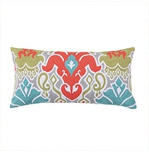 "Levtex Deniza 12"" x 24"" Damask Decorative Pillow"