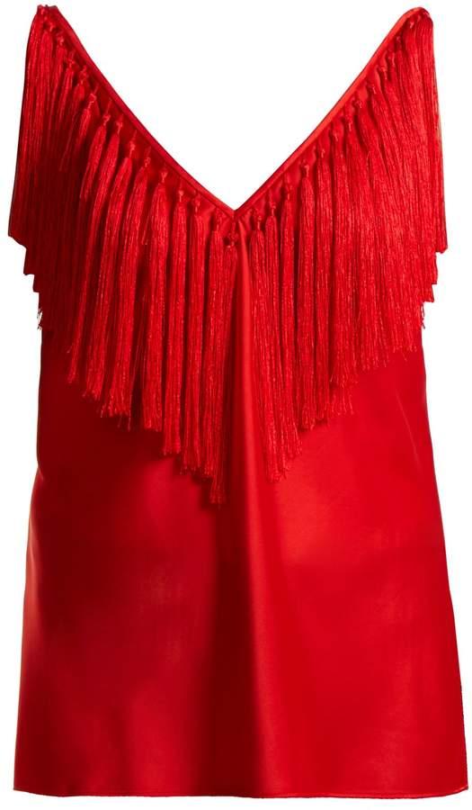 Diane von Furstenberg Deep V-neck fringed top
