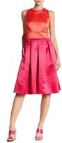 Sangria SBLV1114 Sleeveless Color Block Satin Dress