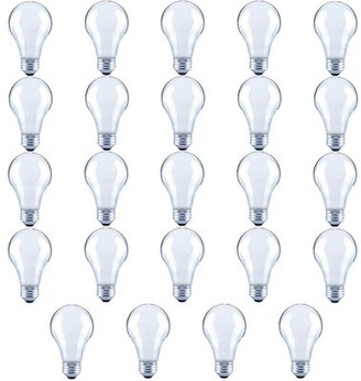 Symple Stuff 40 Watt Equivalent A19 LED Dimmable Frosted Glass Filament Light Bulb E26/Medium (Standard) Base (Set of 24 Color Temperature: Soft Whit