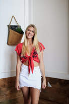 Love Tree Red Floral Top
