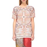 Etro Sweater Short-sleeved Shirt With Paisley Print