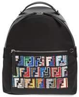 Fendi Fun Fair Logo Nylon Backpack