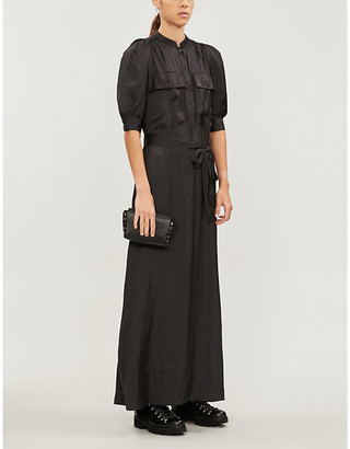 Zadig & Voltaire Ranili satin pleated mini dress
