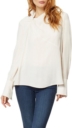 Habitual Athena Long Sleeve Woven Twist Blouse