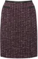 M&Co Boucle PU trim skirt