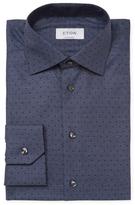 Eton Dot Print Contemporary Fit Dress Shirt