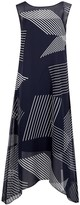 DKNY Navy Printed Chiffon Dress
