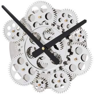 """A&B Home 10"""" Wall Clock Silver"""