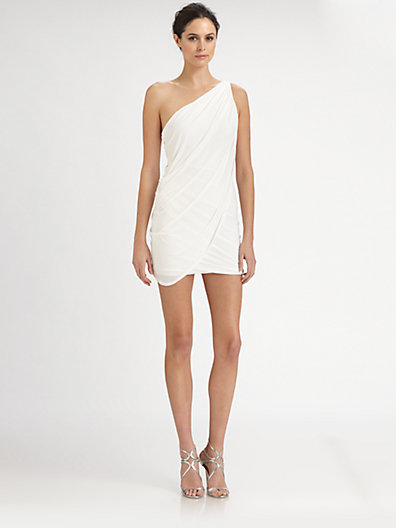 BCBGMAXAZRIA Draped One-Shoulder Dress