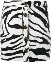 ADAM by Adam Lippes zebra print mini skirt - women - Cotton/Silk/Spandex/Elastane - 2