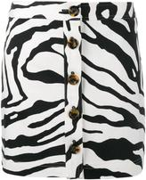 ADAM by Adam Lippes zebra print mini skirt - women - Silk/Cotton/Spandex/Elastane - 2
