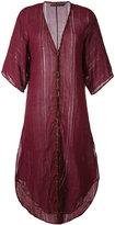 Vix Paula Hermanny metallic embellishment beach dress