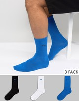 Pringle Crew Socks 3 Pack Blue