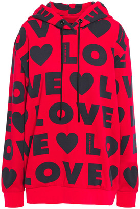 Love Moschino Logo-print French Cotton-terry Hoodie