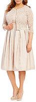 Jessica Howard Plus Scalloped Trim Lace 2-Piece Jacket Dress