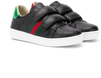 Gucci Kids GG Supreme touch-strap sneakers