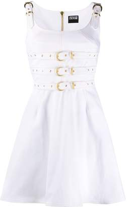 Versace Belted Dungaree Denim Dress