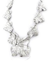 Dolce Vita Necklace 'french touch' 'Vigne Céleste' antique silver plated.