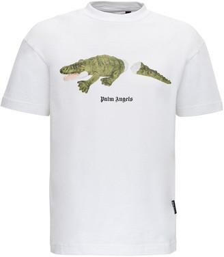 Palm Angels Croco Printed T-Shirt