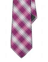 Lauren Ralph Lauren Lauren by Ralph Lauren Pink Magenta Plaid Woven Silk Mens Necktie