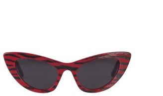 Saint Laurent Eyewear Tiger Print Sunglasses