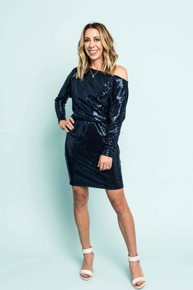 Gibson Sequin Long Sleeve Party Dress