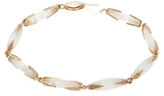 Maiyet 18K Yellow Gold, Moonstone & 0.75 Total Ct. Diamond Dagger Slice Link Bracelet