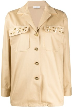 Sandro Paris Single Breasted Utility Jacket