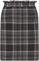 Dorothy Perkins Grey Checked Frill Mini Skirt