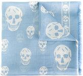 Alexander McQueen Skull scarf - men - Modal/Shell - One Size