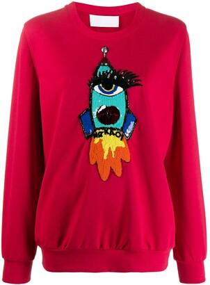 NO KA 'OI Applique Detail Sweatshirt