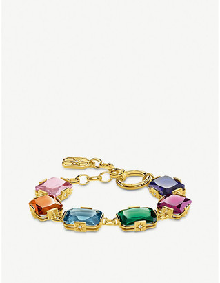 Thomas Sabo Magic Stones large 18-carat yellow gold-plated bracelet