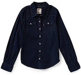 Levi's Big Girls 7-16 The Western Long-Sleeve Denim Top