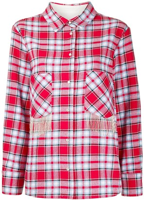 Woolrich Fringed Pockets Check Shirt