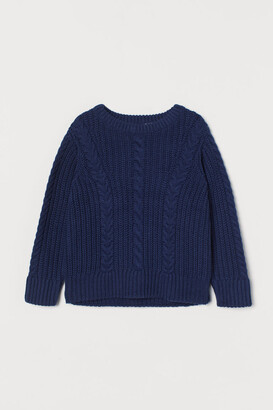 H&M Cable-knit Sweater - Blue