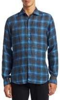 MODERN Brushed Linen Flannel Button-Down Shirt