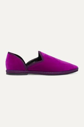 The Row Friulane Velvet Slippers - Magenta