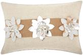 Nourison Mina Victory Three Poinsettia Throw Pillow